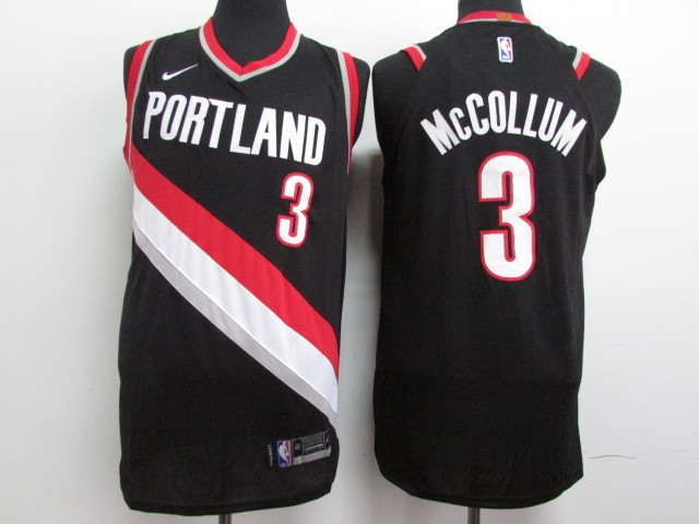 Blazers 3 C.J. McCollum Black Nike Authentic Jersey