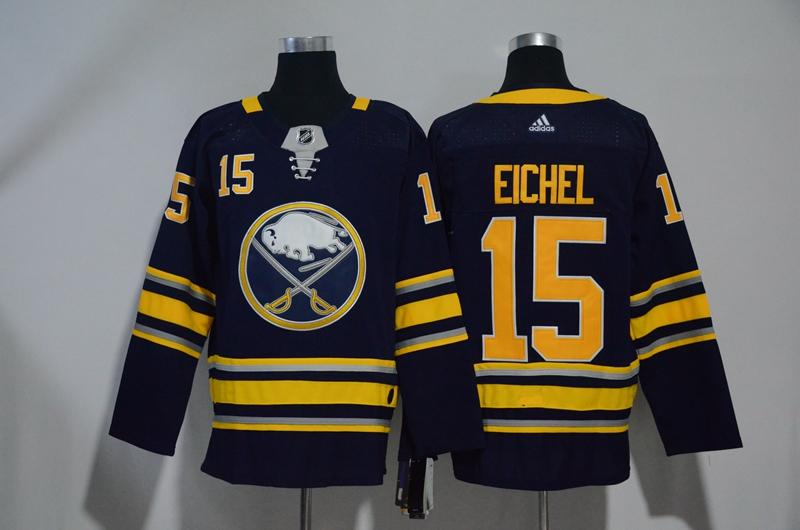 Sabres 15 Jack Eichel Navy Adidas Jersey