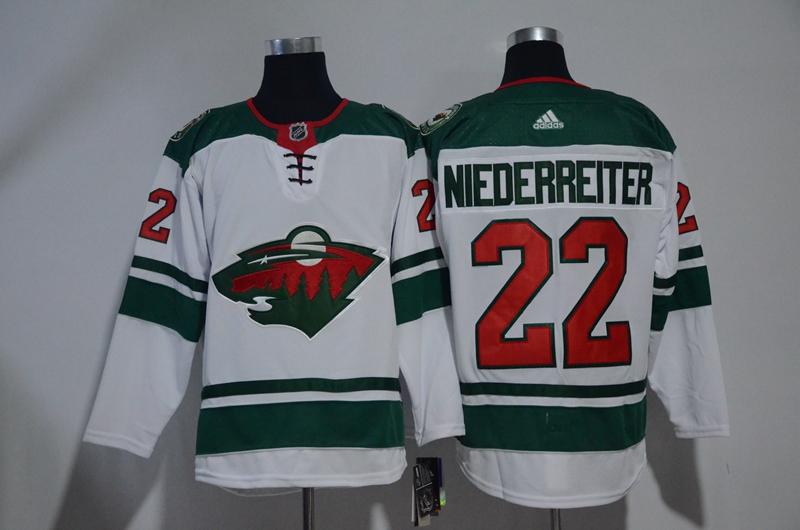 Wild 22 Nino Niederreiter White Adidas Jersey