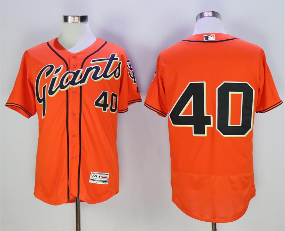 Giants 40 Madison Bumgarner Orange Flexbase Jersey