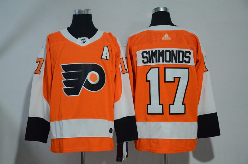 Flyers 17 Wayne Simmonds Orange Adidas Jersey