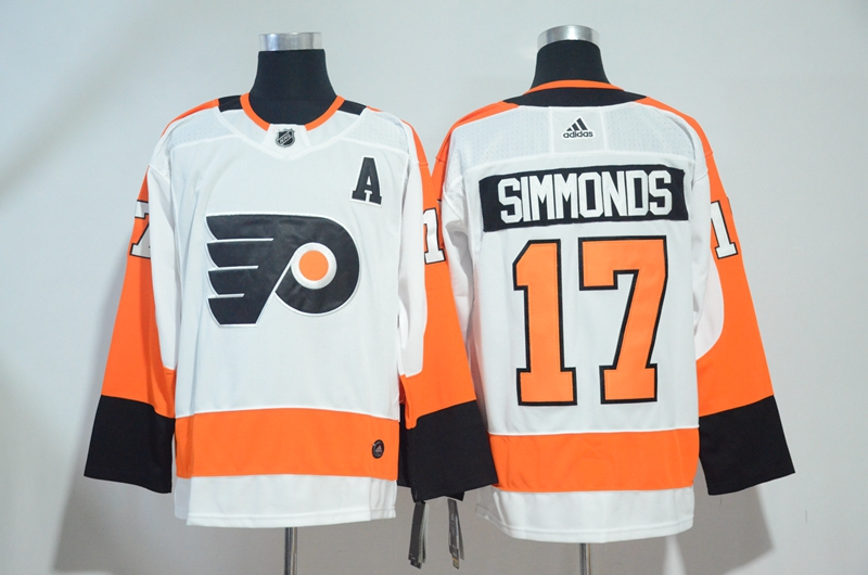 Flyers 17 Wayne Simmonds White Adidas Jersey