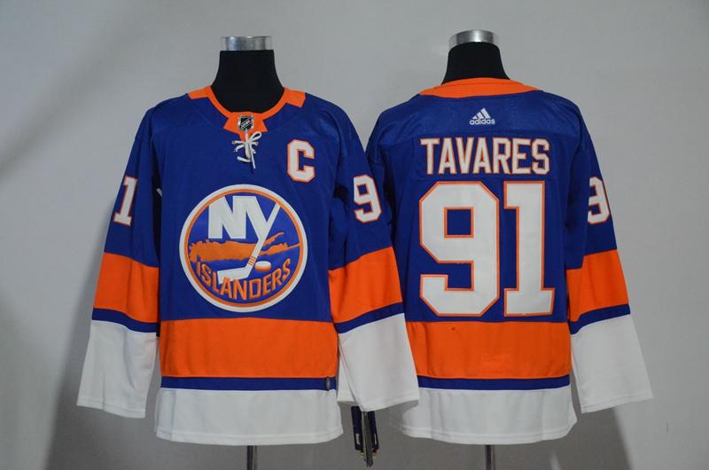 Islanders 91 John Tavares Blue Adidas Jersey