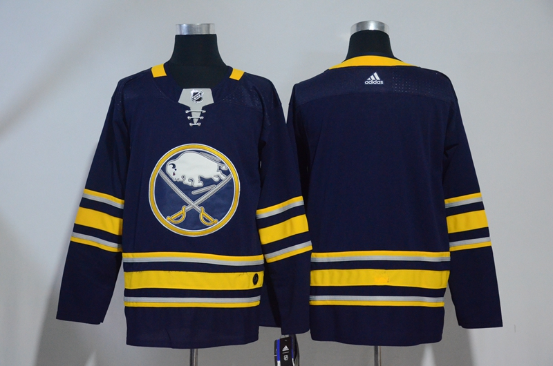 Sabres Blank Navy Adidas Jersey