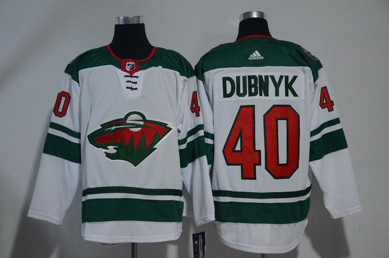Wild 40 Devan Dubnyk White Adidas Jersey