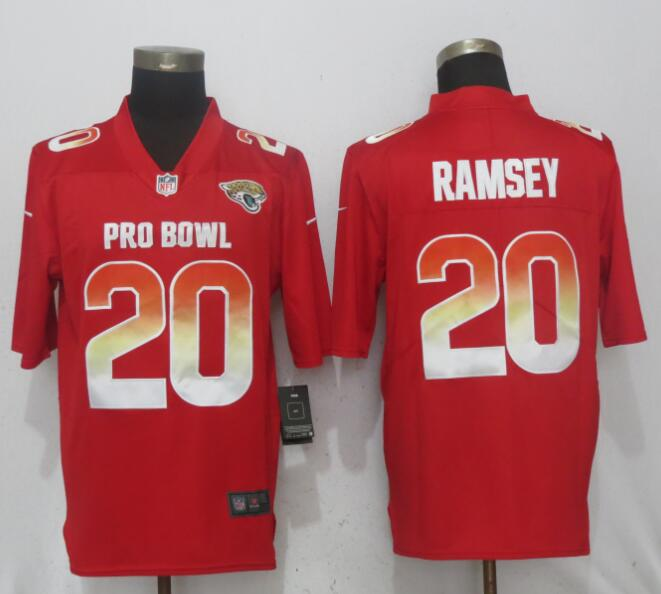 Nike AFC Jaguars 20 Jalen Ramsey Red 2018 Pro Bowl Game Jersey