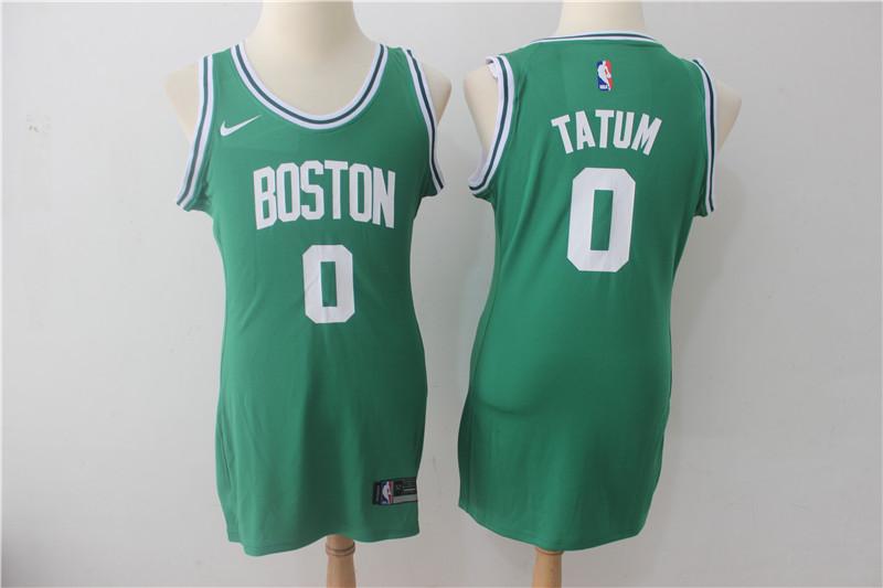 Celtics 0 Jayson Tatum Green Women Nike Swingman Jersey