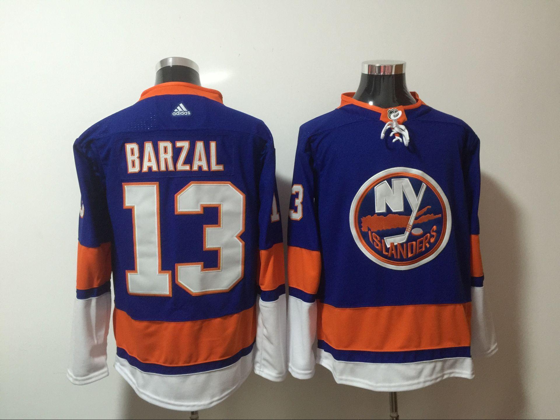 Islanders 13 Mathew Barzal Blue Adidas Jersey