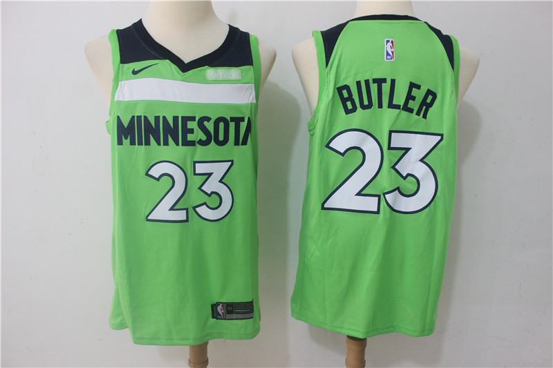 Timberwolves 23 Jimmy Butler Green Nike Swingman Jersey