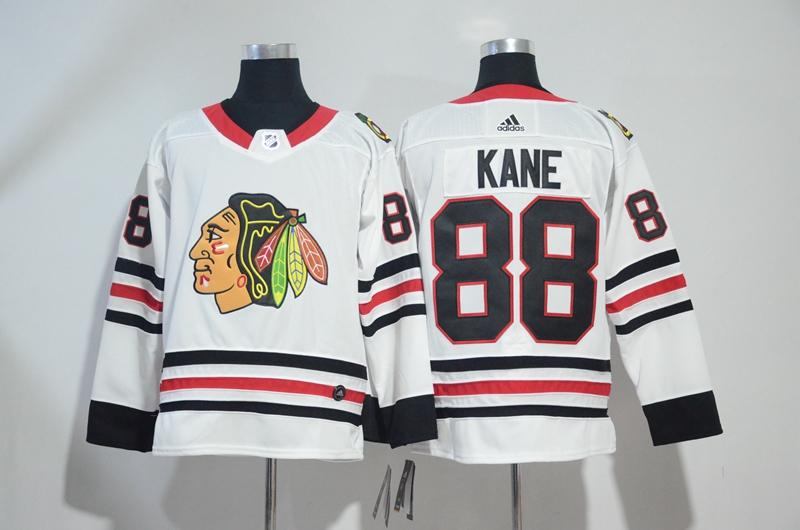 Blackahwks 88 Patrick Kane White Adidas Jersey