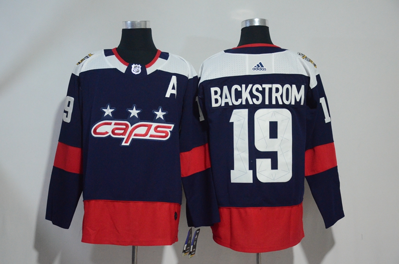 Capitals 19 Nicklas Backstrom Navy 2018 NHL Stadium Series Adidas Jersey