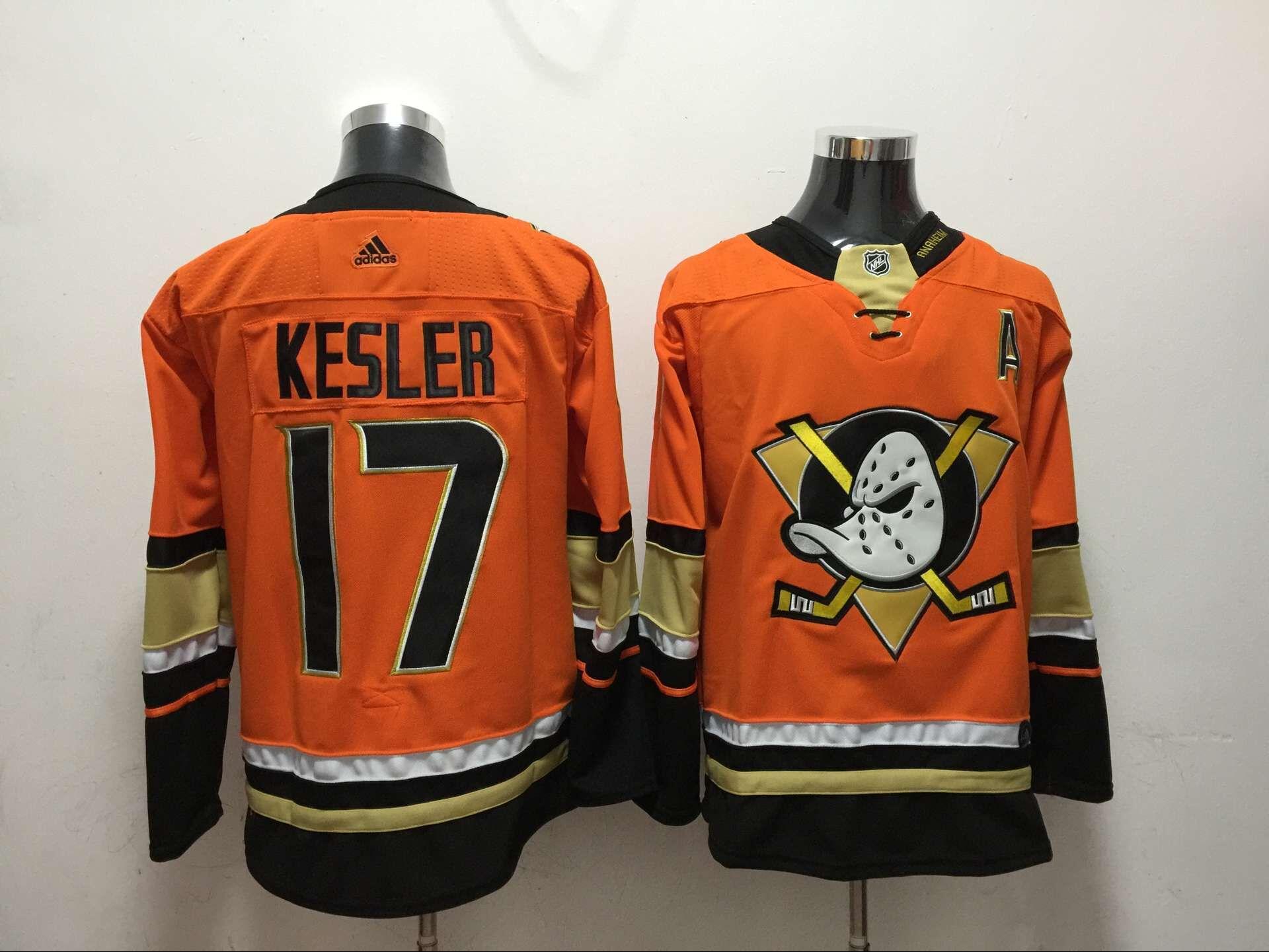 Ducks 17 Ryan Kesler Orange Adidas Jersey