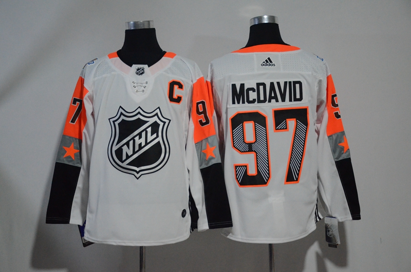 Oilers 97 Connor McDavid White Adidas 2018 NHL All-Star Game Pacific Division Authentic Player Jersey