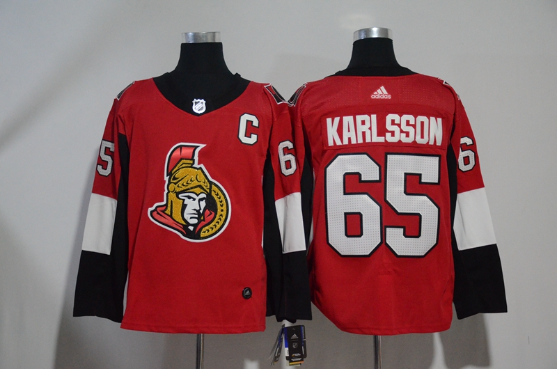 Senators 65 Erik Karlsson Red Adidas Jersey