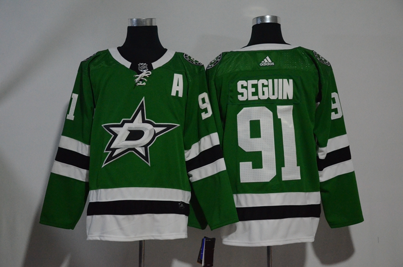Stars 91 Tyler Seguin Green Adidas Jersey