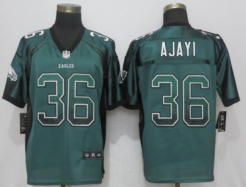 Nike Eagles 36 Jay Ajayi Green Drift Fashion Elite Jersey