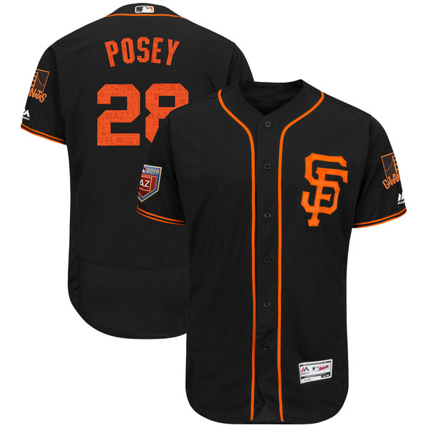Giants 28 Buster Posey Gray Road 2 Flexbase Jersey