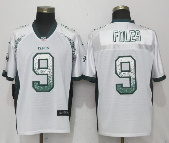 Nike Eagles 9 Nick Foles White Drift Fashion Elite Jersey