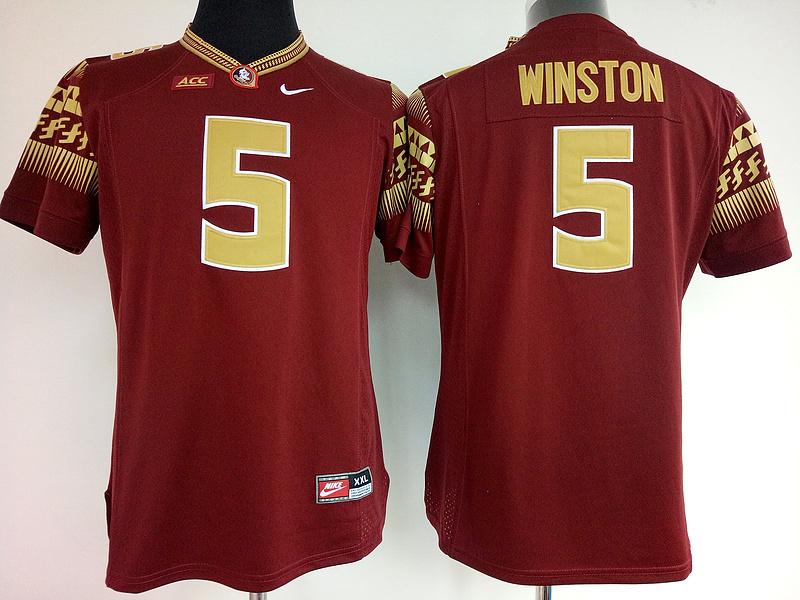 Florida State Seminoles (FSU) 5 Jameis Winston Red College Football Jersey