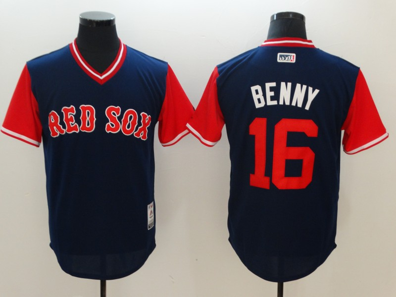 Red Sox 16 Andrew Benintendi Benny Majestic Navy 2017 Players Weekend Jersey
