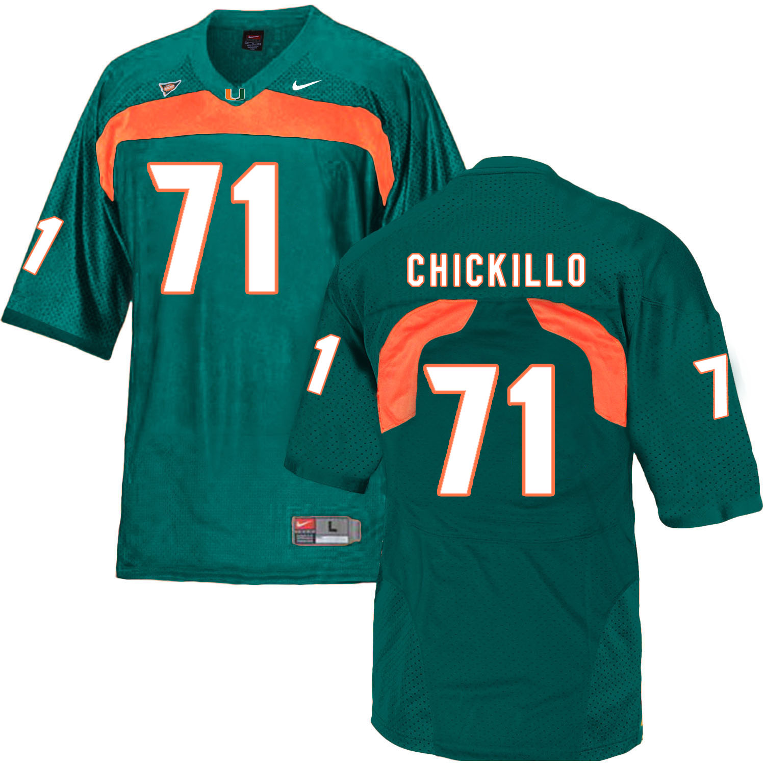 Miami Hurricanes 71 Anthony Chickillo Green College Football Jersey
