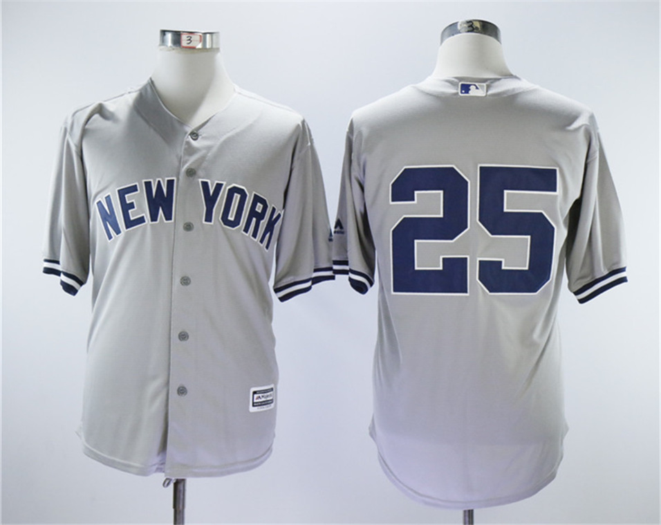 Yankees 25 Gleyber Torres Gray Cool Base Jersey