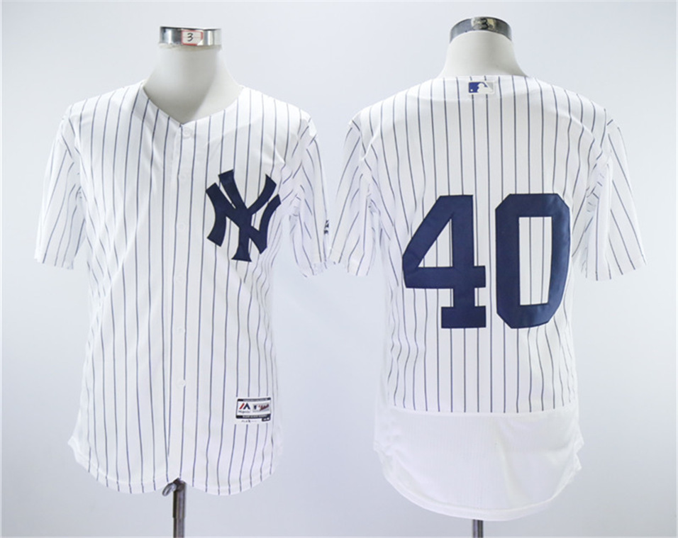 Yankees 40 Luis Severino White Flexbase Jersey