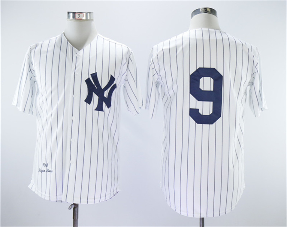 Yankees 9 Roger Maris White 1961 Throwback Jersey