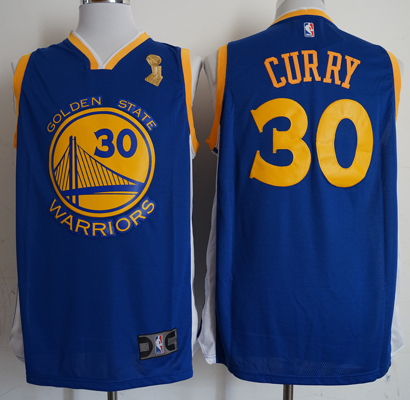 Warriors 30 Stephen Curry Blue 2018 NBA Champions Nike Swingman Jersey
