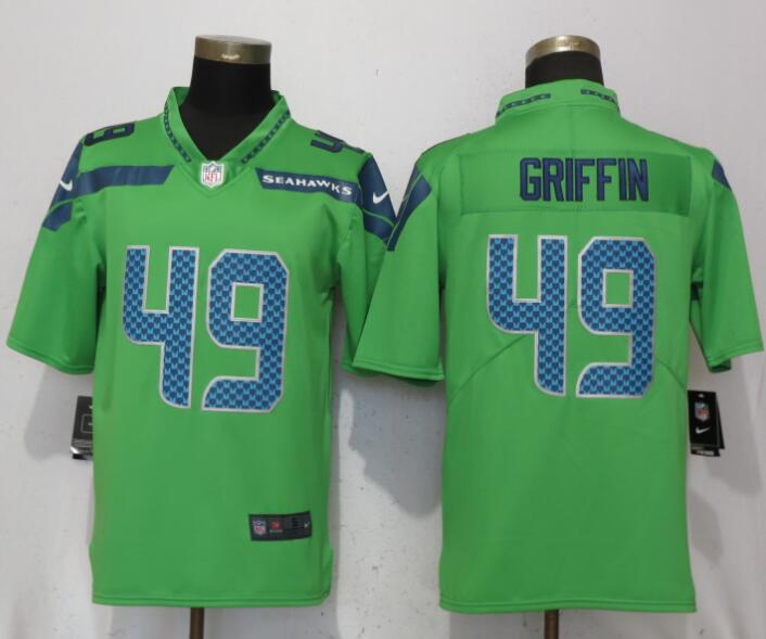 49cff18fd09 New Nike Seahawks 49 Shaquem Griffin Green Vapor Untouchable Limited ...