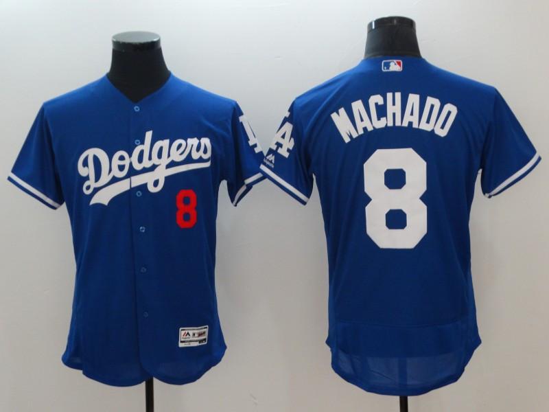 Dodgers 8 Manny Machado Royal Flexbase Jersey