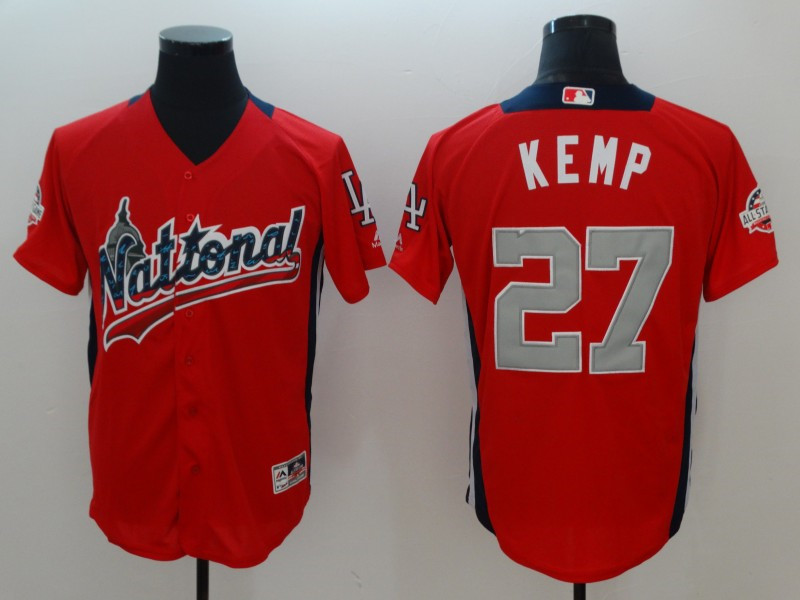 National League 27 Matt Kemp Red 2018 MLB all-star Game Home Run Derby Jersey