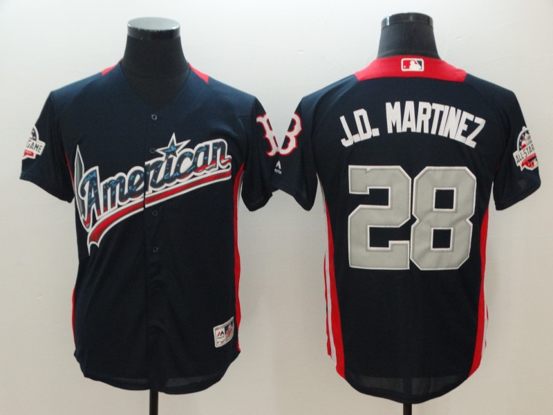 American League 28 J.D. Martinez Navy 2018 MLB All-Star Game Home Run Derby Jersey