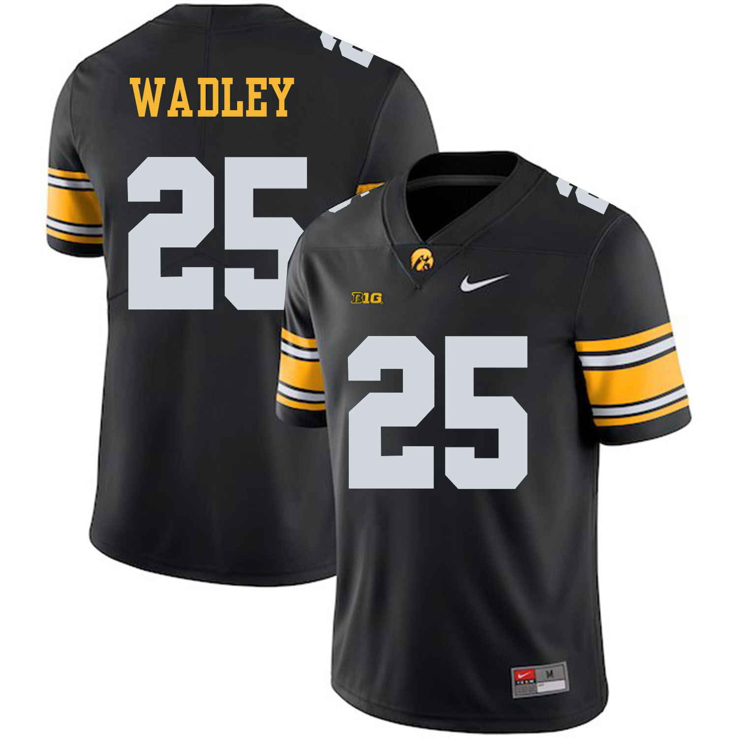 Iowa Hawkeyes 25 Akrum Wadley Black College Football Jersey