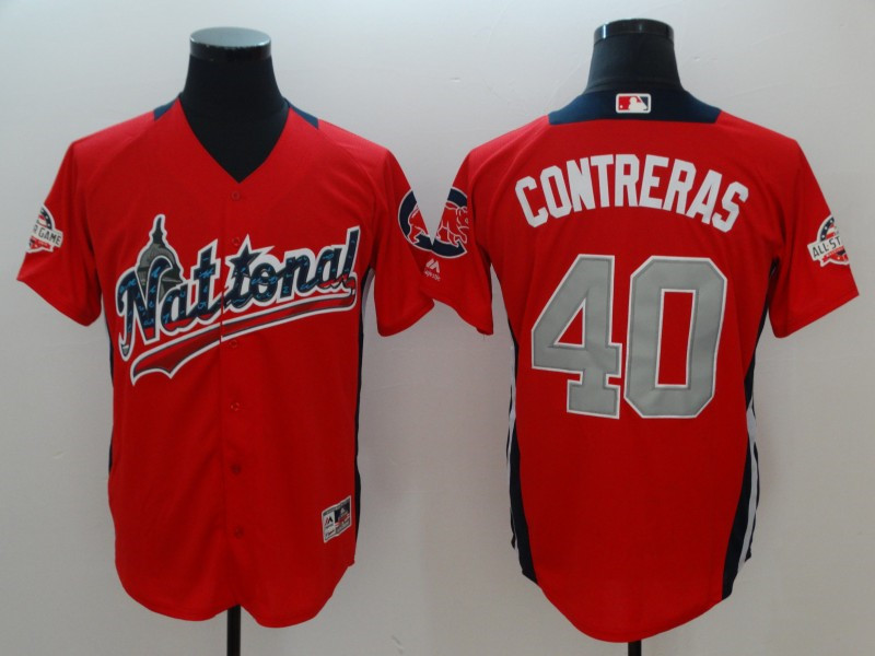 National League Willson Contreras Red 2018 MLB All-Star Game Home Run Derby Player Jersey