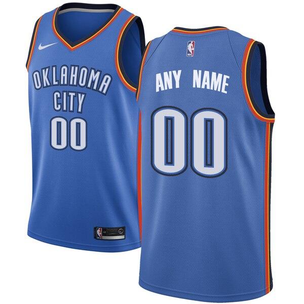 Thunder Blue Men's Customized Nike Swingman Jersey