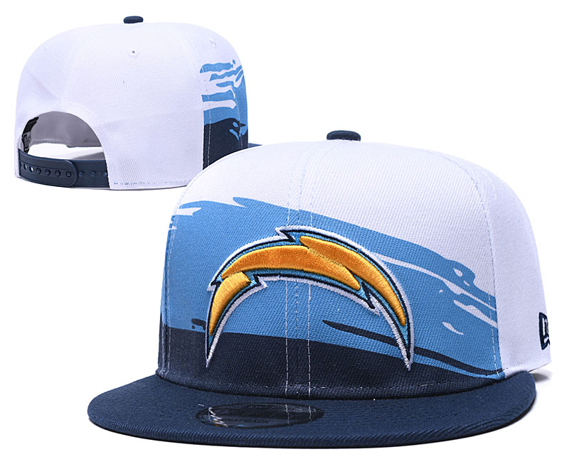 Chargers Team Logo White Adjustable Hat GS