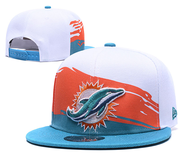 Dolphins Team Logo White Adjustable Hat GS