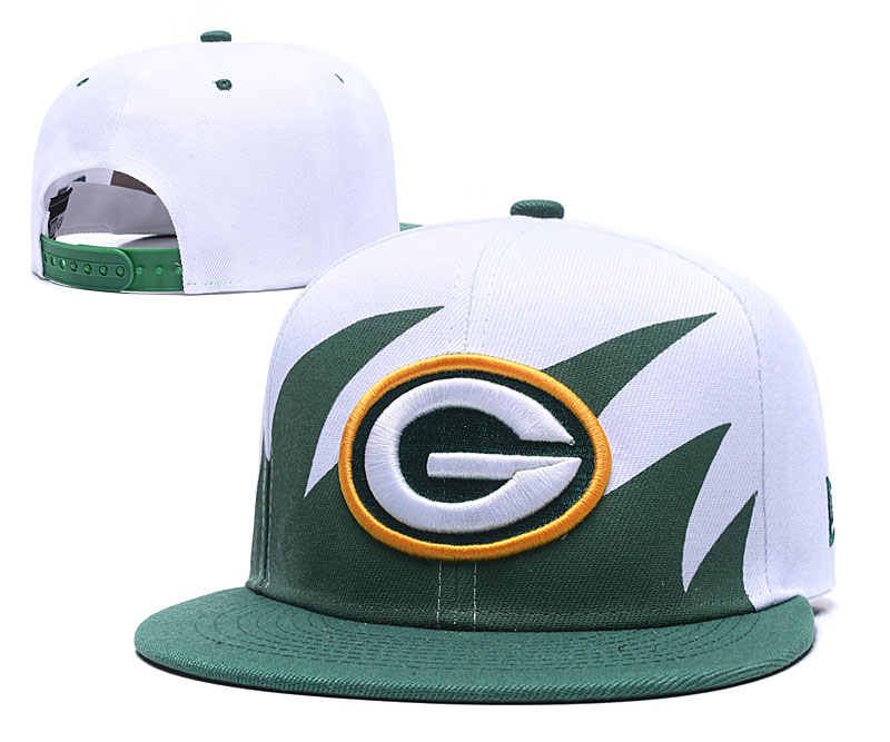 Packers Team Logo White Adjustable Hat GS