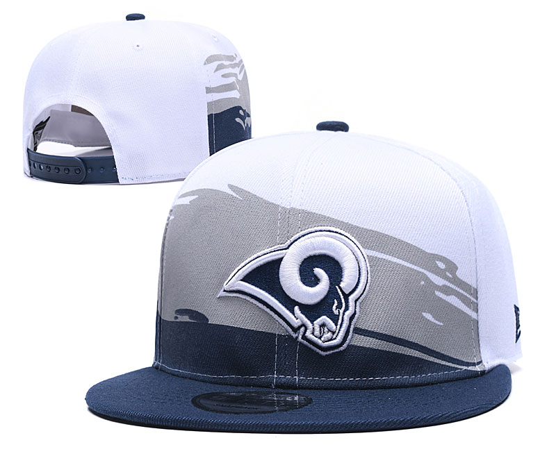 Rams Team Logo White Adjustable Hat GS