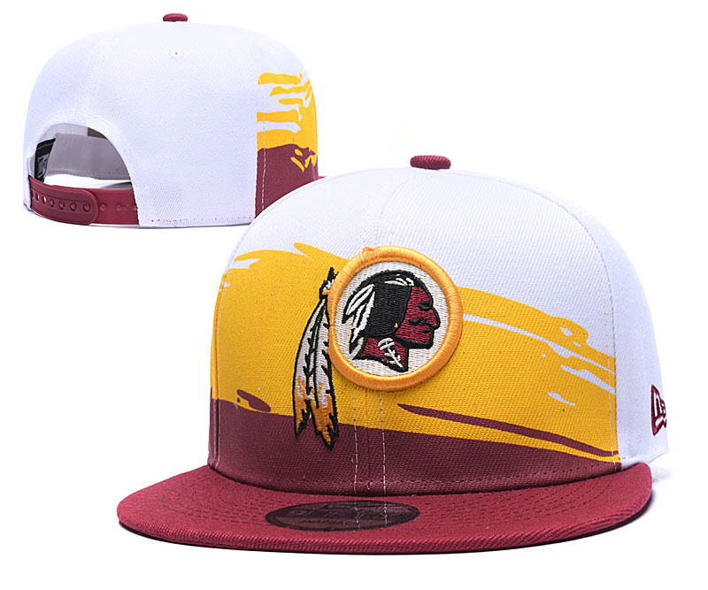 Redskins Team Logo White Red Yellow Adjustable Hat GS