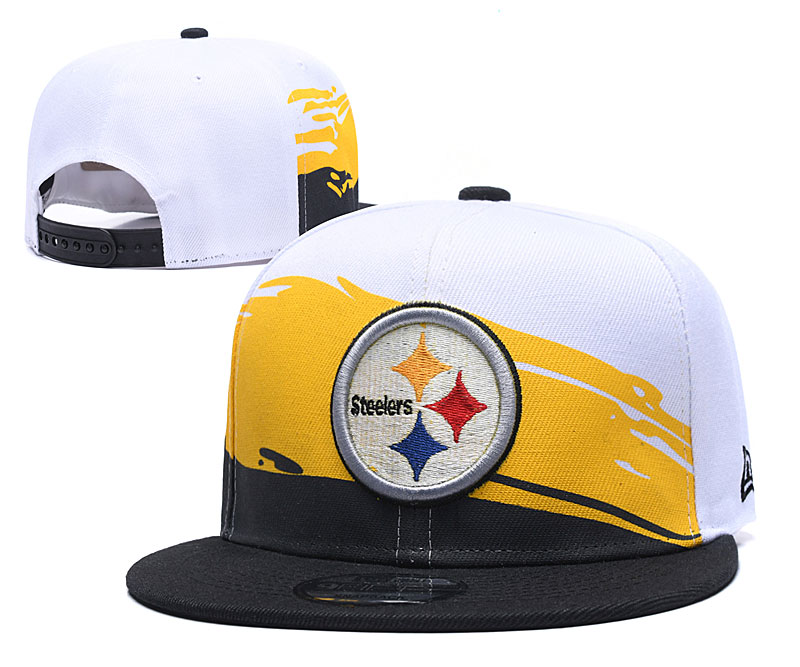 Steelers Team Logo White Adjustable Hat GS