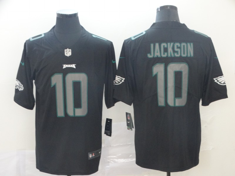 Nike Eagles 10 DeSean Jackson Black Impact Rush Limited Jersey