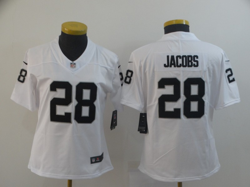 Nike Raiders 28 Josh Jacobs White Women Vapor Untouchable Limited Jersey