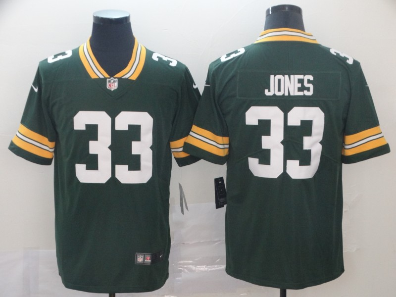 Nike Packers 33 Aaron Jones Green Vapor Untouchable Limited Jersey