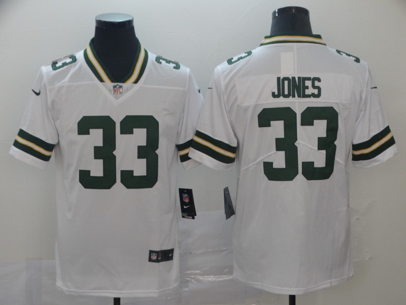 Nike Packers 33 Aaron Jones White Vapor Untouchable Limited Jersey