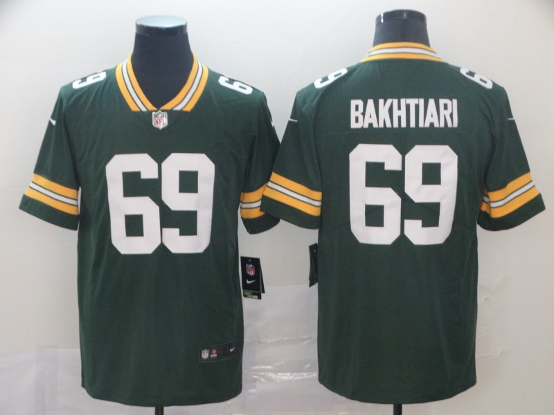 Nike Packers 69 David Bakhtiari Green Vapor Untouchable Limited Jersey