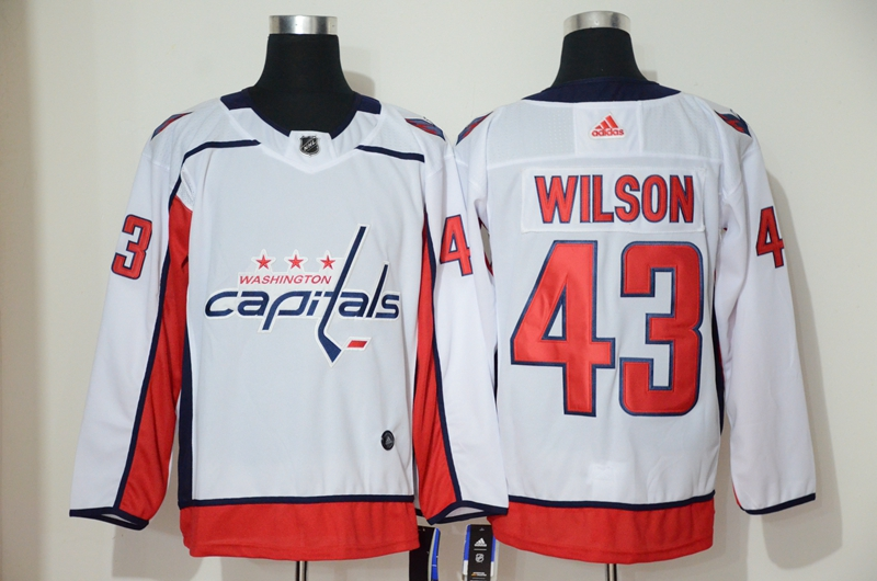 Capitals 43 Tom Wilson White Adidas Jersey