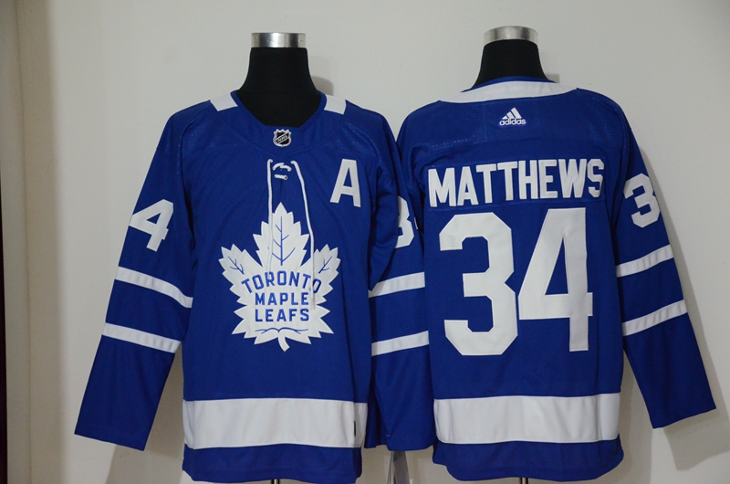 Maple Leafs 34 Auston Matthews Blue Adidas Jersey