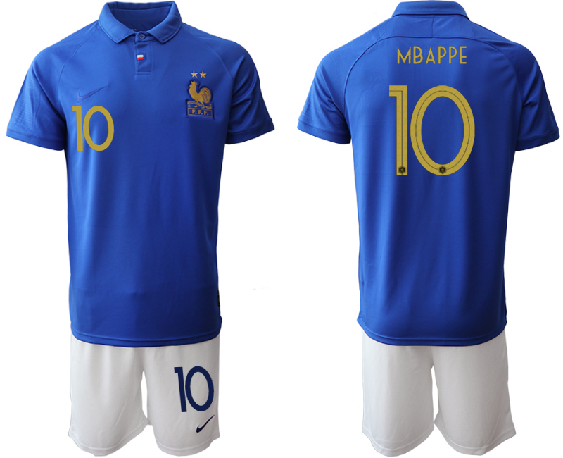 2019-20 France 10 MBAPPE 100th Commemorative Edition Soccer Jersey